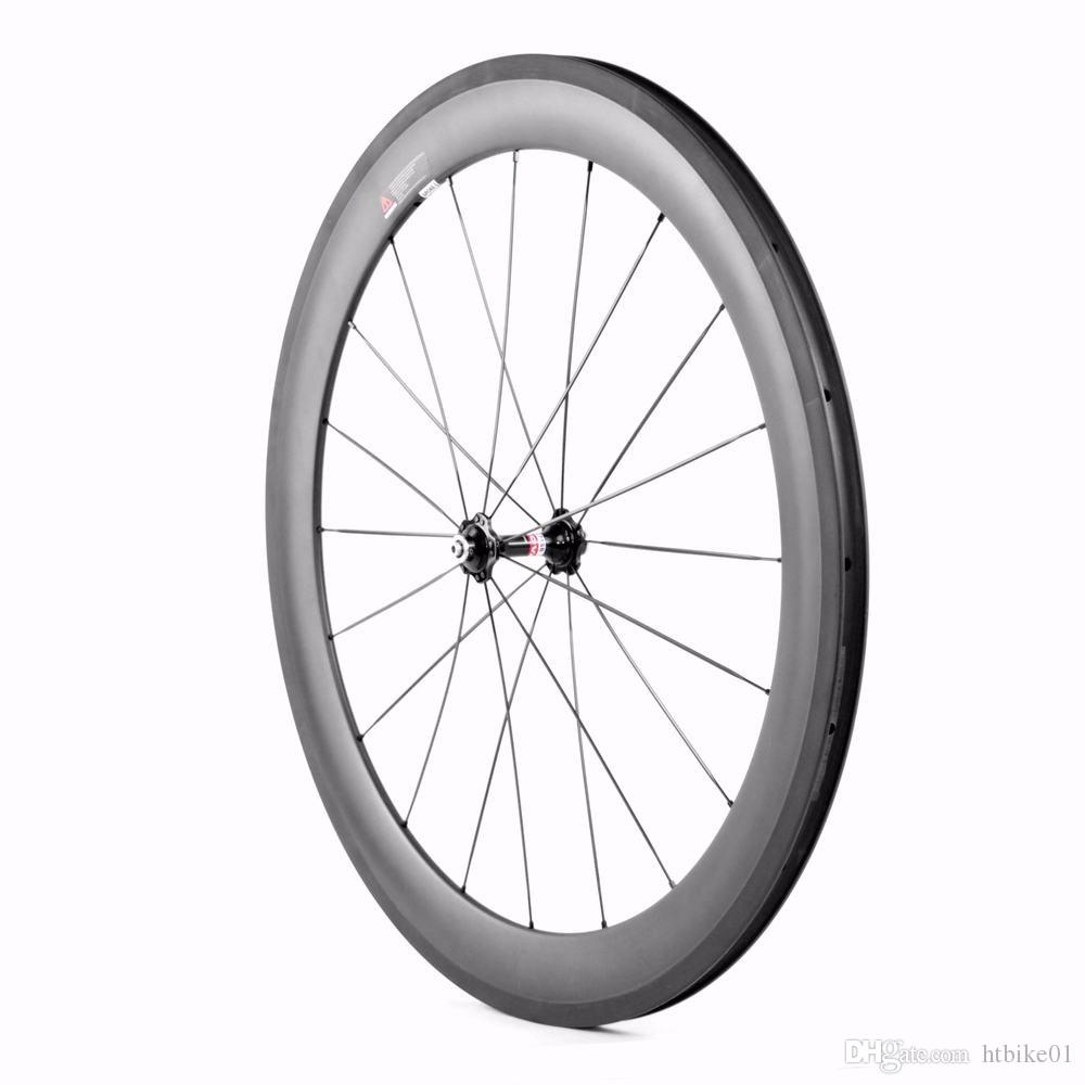 Hongtan 700C Ultra Light Carbon Wheels 24mm 38mm 50mm 60mm 88mm Carbon Clincher Tubular Wheelset Road Bike Bicycle Wheels