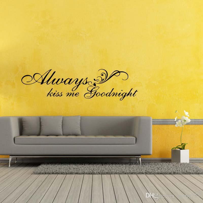 Enchanting Always Kiss Me Goodnight Wall Decor Photo - Art & Wall ...