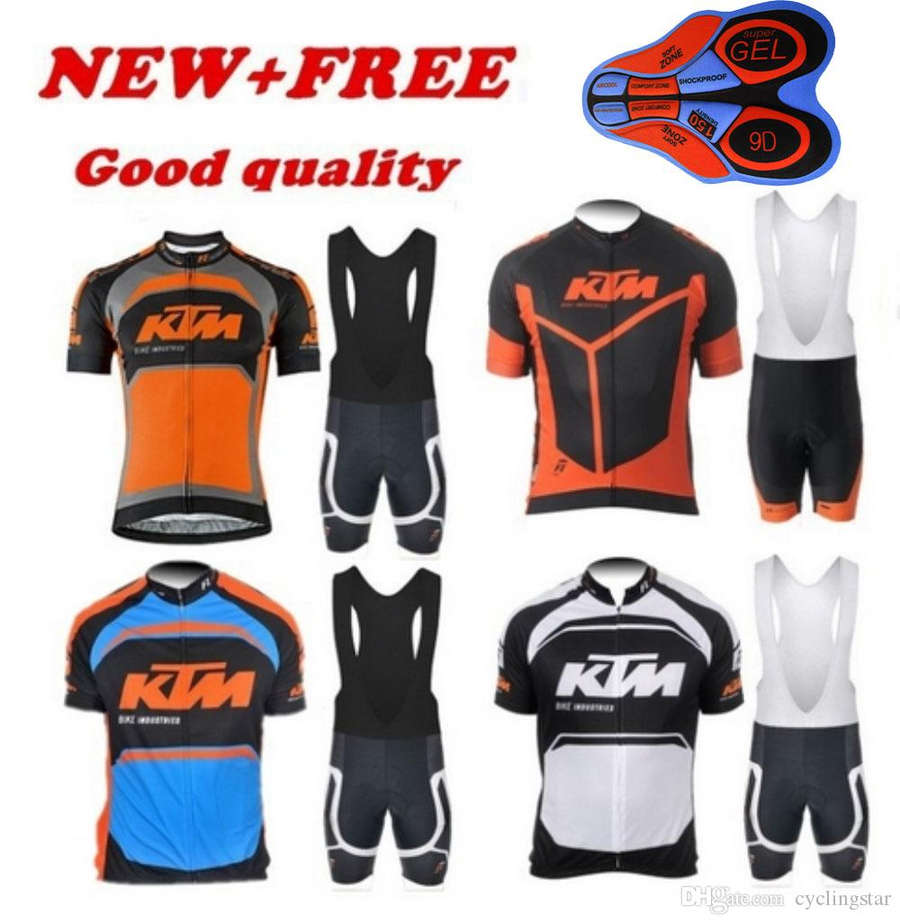 41e255483 2017 KTM Cycling Jersey Road Bike Wear Bicycle Maillot Ropa Ciclismo Mtb  Bicycle Sportswear Summer Men Cycling Clothing 9D GEL PAD Set E1202 Team  Cycling ...