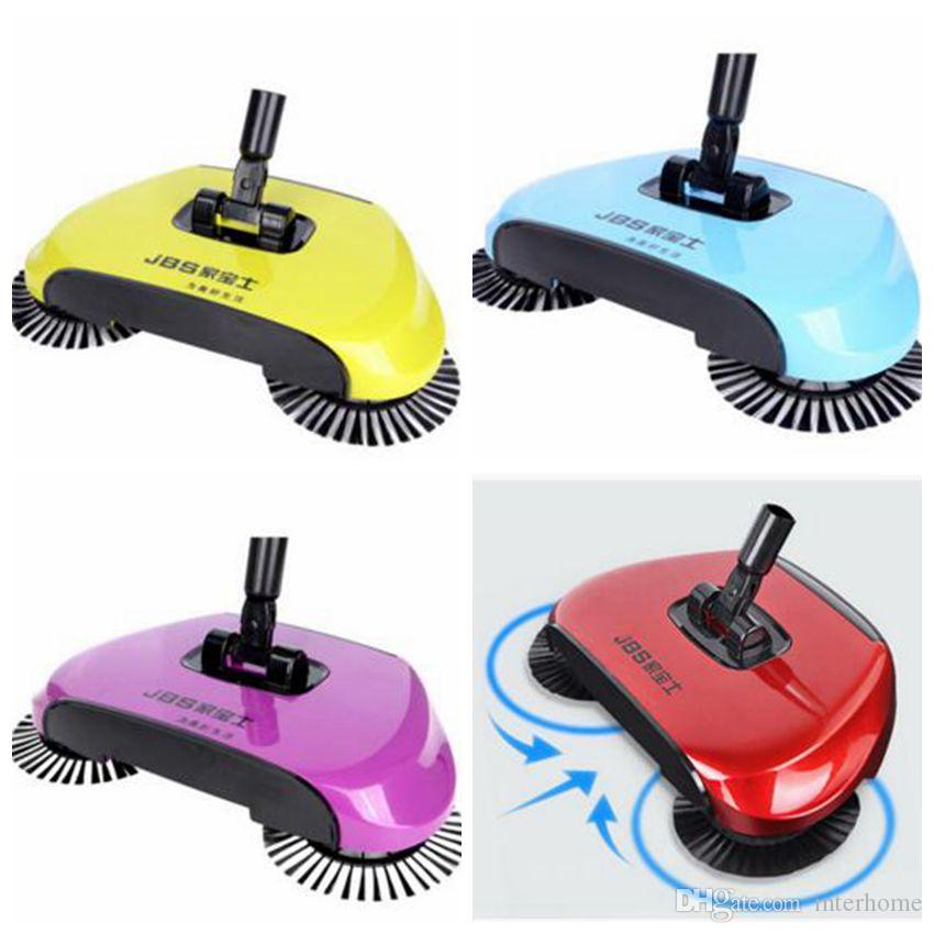 2018 Super Cordless Swivel Brush Smart Floor Cleaner Sweeper Rotating Hand  Push Dual Sweeper Manual Dust Cleaner 3 In1 Dustpan Broom Mop A2132 From ...