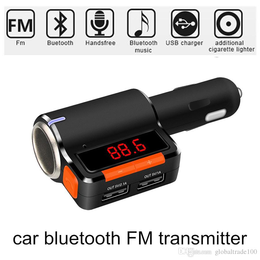 New BC09 Bluetooth FM Transmitter for Car Dual USB Port Car Charger  Bluetooth Car Kit for iPhone Android Phone iPod MP3 Players