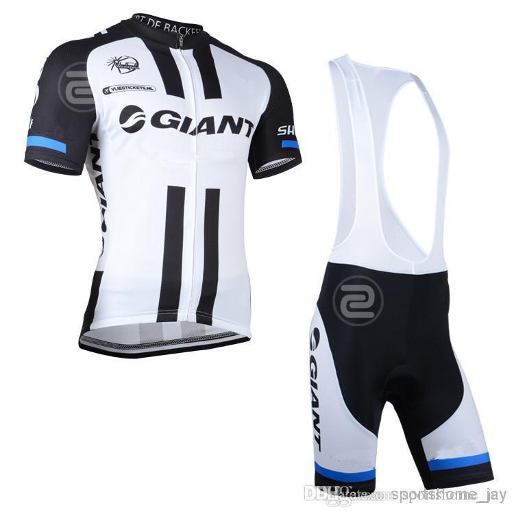 2014 géant vtt course cycliste vêtements ensemble / respirant bicyclette cyclisme maillots Ropa ciclismo / manches courtes cyclisme vêtements de sport