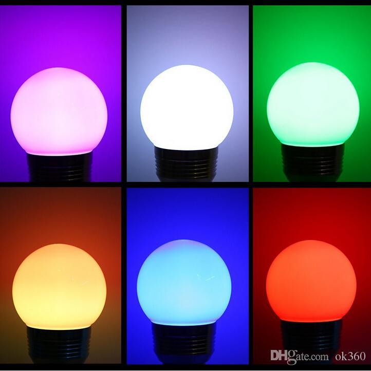 E27 E14 LED Changing RGB Magic Light Bulb Lamp 85-265V RGB Led Light Spotlight + IR Remote Control