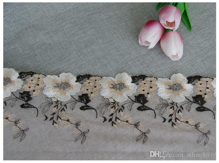 Fibra Flor Guarnição Do Laço Bordado Costura Tecido Fita DIY Acessórios de Vestuário 16 cm de Largura para As Mulheres Se Vestem Decoração