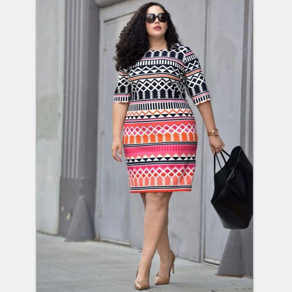 d1ba8afdd14 2019 Women Bohemian Style Dress Plus Size For Women Summer Beach Rhombus  Print Dress Half Sleeve Knee Length Gothic Dress From Momgirl