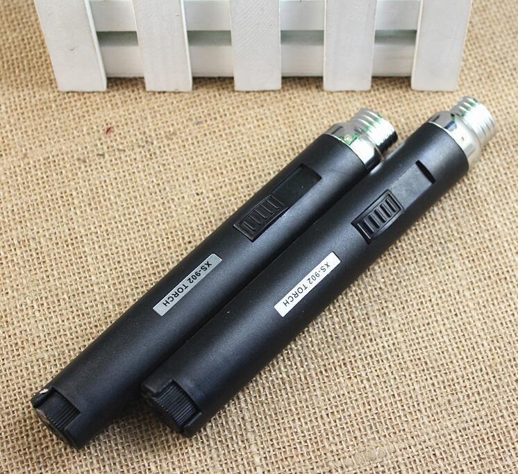 portable Metal&plastic Jet Pencil Butane Gas Lighter 902 Mini Pen Butane Cigarette Smoking Torch Fuel Welding Soldering Lighters