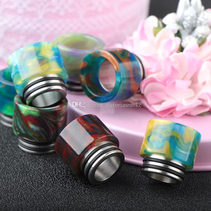 Nuova vendita calda DHL libero TFV8 Drip Tip punte a goccia in resina epossidica SMOK TFV8 Pretty pattern punte a goccia in resina 510 Bocchino TFV8 atomizzatore