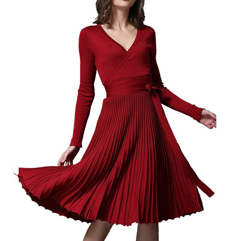 Kleider damen v ausschnitt
