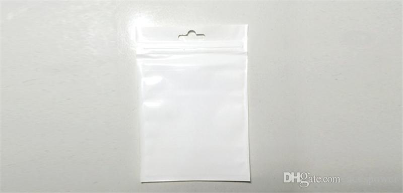 Clear + white Pearl Plastic Poly OPP Packing Zipper Zip Lock Retail Packages Cable Case Jewelry Food PVC Plastic bag many size available