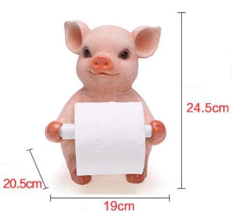 تفاصيل عن الحرة الدائمة الحمام المرحاض لفة ورق حامل الخنزير القابضة حالة الراتنج شماعات