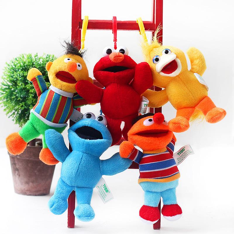 73aca99d4315f0 2019 Wholesale Sesame Street Elmo Big Bird Cookie Monster Erine Bert 13cm  Plush Toys Cartoon Soft Stuffed Animals Dolls Pendant Kids Gift From Lou88,  ...