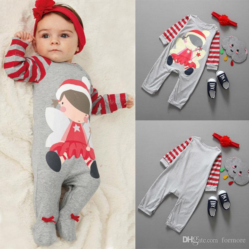 Conjunto de pijamas de Navidad Conjunto de mameluco de Santa Claus Conjunto de mono gris Unisex Onesies Legging Calentador Leotardos Xmas Ropa de niños Childre