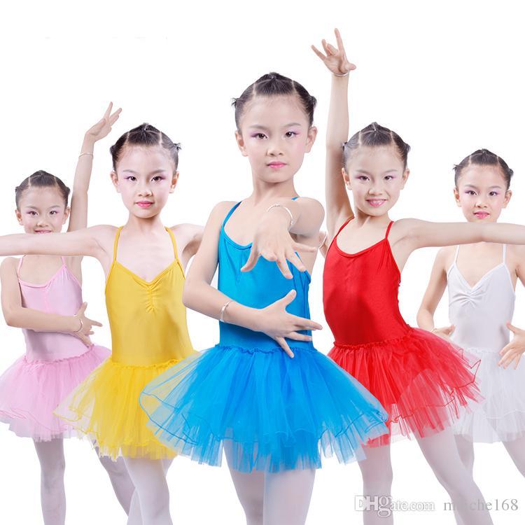 5 st Barndans Klänningar Ballett Ballett Klänning Kjol Girls Summer Dance Dress