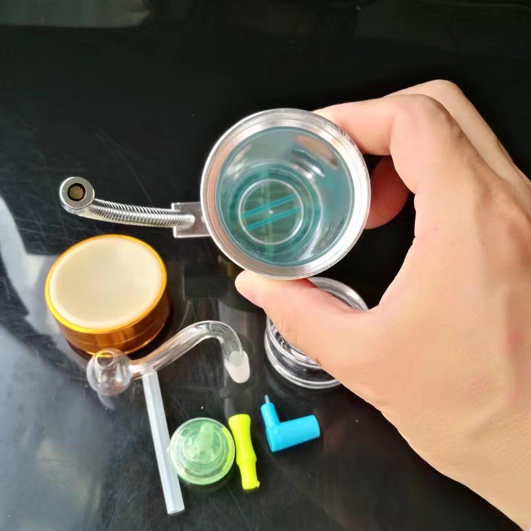Yajie olla de acero inoxidable, nuevo vidrio único Bongs tubos de vidrio Tubos de agua cachimba Plataformas petroleras fumar con Droppe