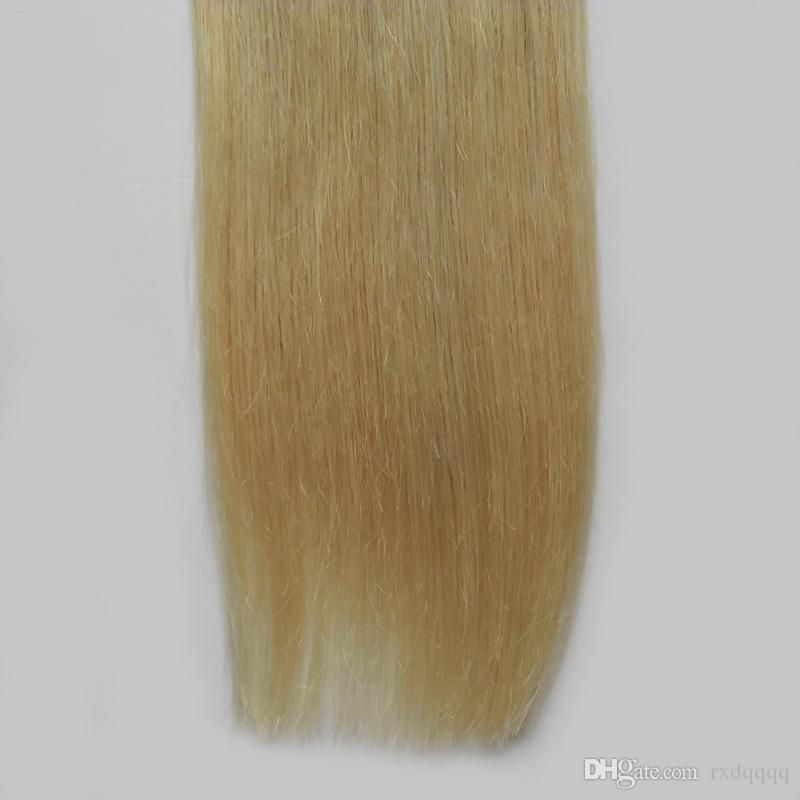 Ombre tape in hair extensions 100g Straight #1B/613 tape in human hair extensions Ombre human hair extension blond