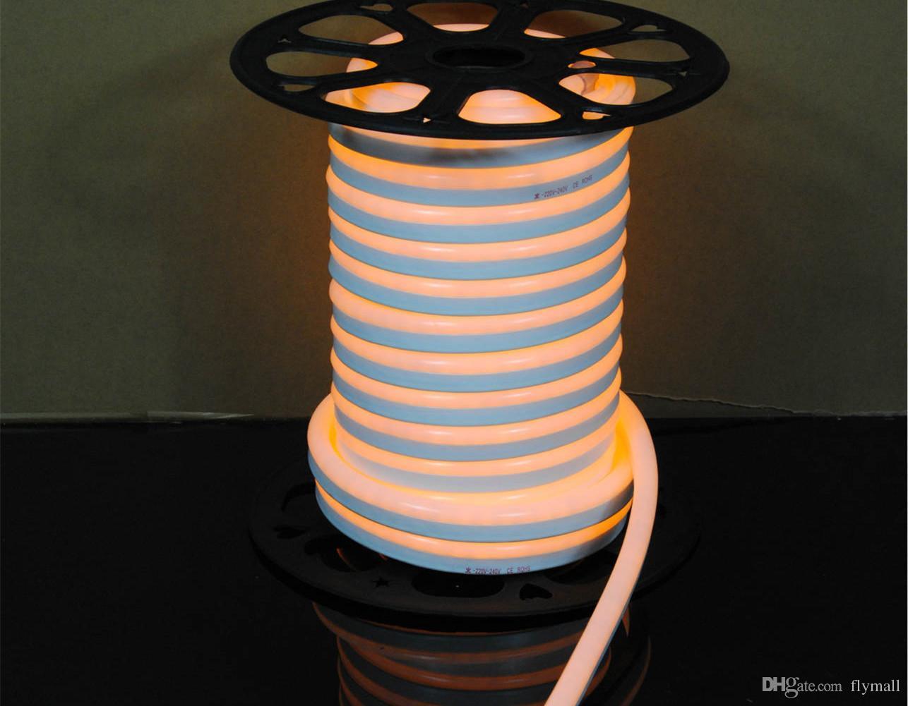 حبل 110V 220V LED فليكس النيون ضوء ماء 80LED / M بقيادة النيون أنبوب الخفيفة قطاع مرنة داخلي الإضاءة في الهواء الطلق عيد الميلاد الديكور