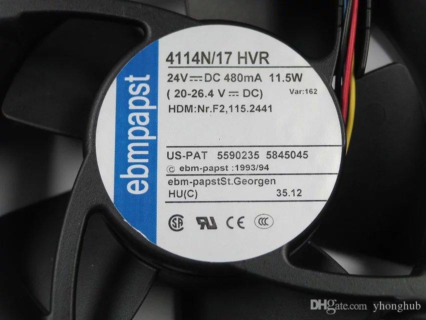 ebmpapst 4114N / 17HVR 4114N 17HVR CC 24V 11.5W 4 fils 70mm 120x120x38mm Server Square Fan