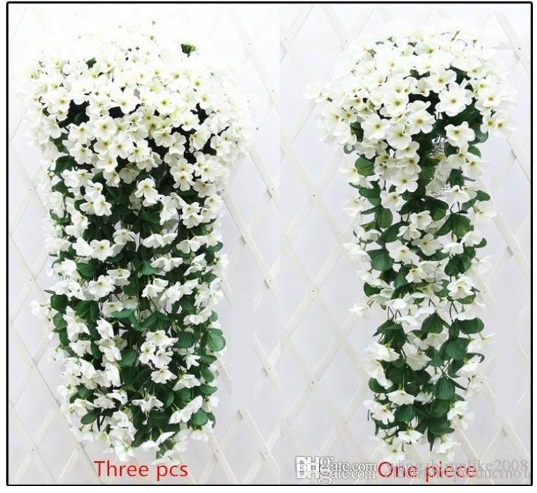 Hot selling romantic artificial flowers simulation silk violet hot selling romantic artificial flowers simulation silk violet flower vine wedding decorations plant bouquet garden decoration in low price simulation mightylinksfo