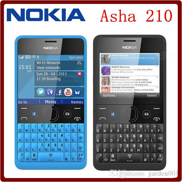 nokia asha 210. Cheap OriginalAsha 210 Unlocked Gsm 2.4`` Dual Sim Cards 2mp Qwerty Keyboard Refurbished Mobile Phone Buy Used Smartphones Cell Price From Garden001, Nokia Asha