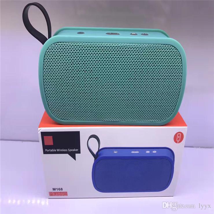 Alta calidad M168 Altavoz inalámbrico Mini Bluetooth Audio Al aire libre Mini Altavoz Bluetooth Subwoofer del coche Buenos sonidos