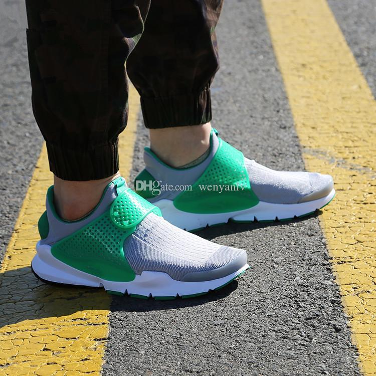 quality design e8380 bb5c0 Mens Grey Green Sock Dart Running Sneakers Womens Shoe 2017 Summer Hot New  Sports Shoes Size 36-44