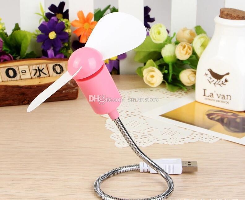 Гибкий металл USB мини - вентилятор охлаждения кулер для настольного компьютера ноутбук ноутбук Бесплатная доставка 0001