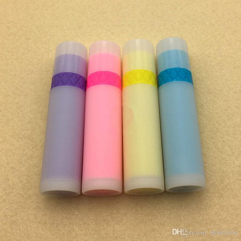 حلوى لون أحمر الشفاه أنابيب البلاستيك الملونة بلسم الشفاه أنابيب الجيل الثالث 3G أحمر الشفاه أنبوب سريع الشحن F20172217