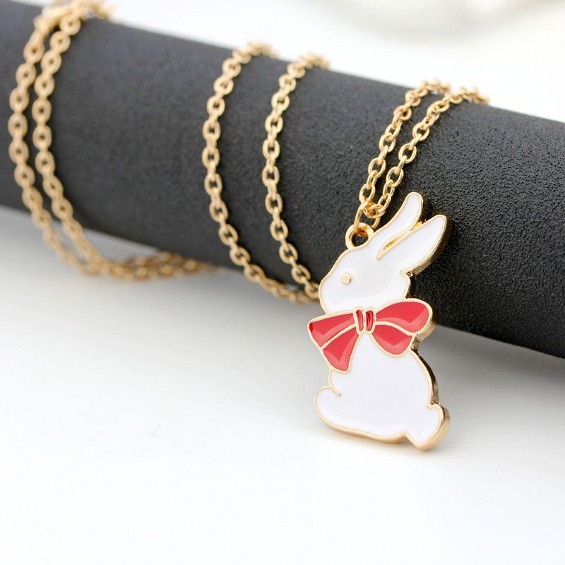 Trendy Cute Star Stick Magic Wand Bird Head Rabbit Pendant Necklace For Girls Cosplay Fashion Japanese Animation Jewelry