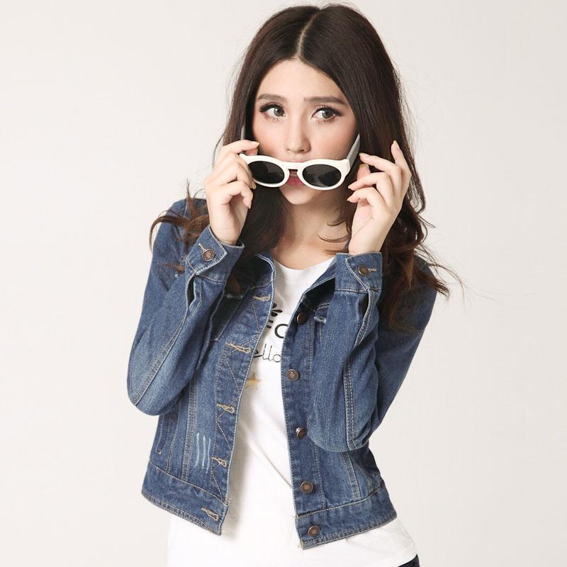 Frauen Jacken Mäntel 2017 Neue Mode Jeans Jacken Denim Frauen Dünne Baumwolle Solide Jacke Frauen Oberbekleidung Mantel Damen Jacke A637