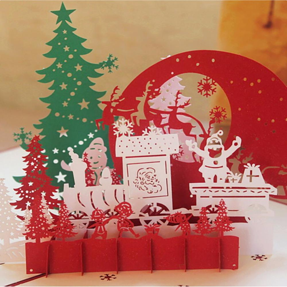 Hot Sale 3D Christmas Cards Greeting Handmade Paper Cards ...
