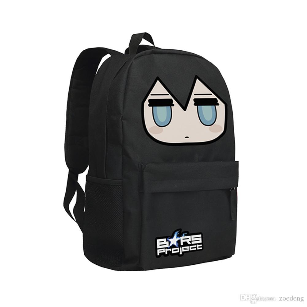 Children School Bag BRS Backpack Black Rock Shooter Students Shoulder Bag  Japanese Anime Bags Boys And Girls Mochila Black Rock Shooter Bags Herschel  ... 440686d3d3