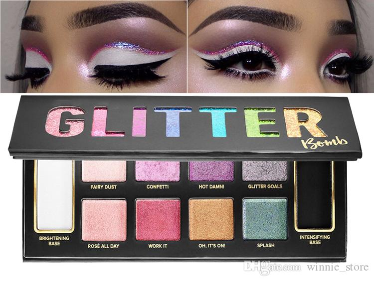 Direkt ab Werk Dhl-frei neue Make-up Augen Gesicht Glitter Bombe PRISMATIC Lidschatten-Palette Make-up-Paletten 10 Farben Lidschatten-Palette