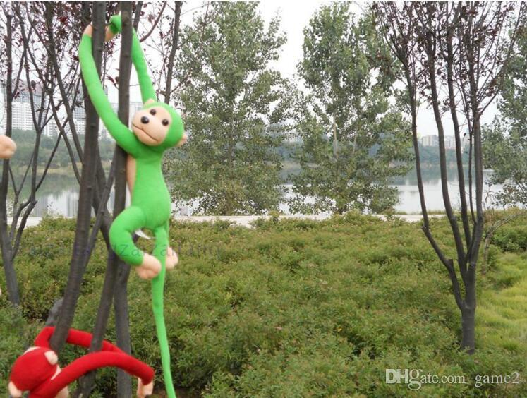 Wholesale- 70cm long arm monkey from arm to tail plush toy colorful monkey curtains monkey stuffed animal doll for kids gifts style209kk