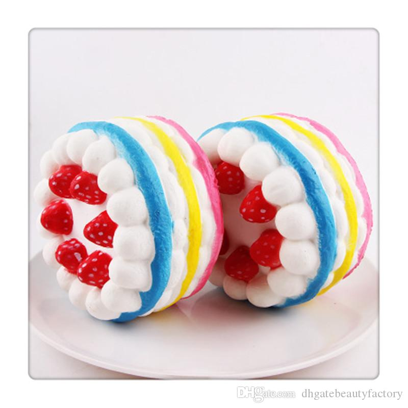 Hot Kawaii Squishies Strawberry Keychains Cake Squishies Slow Rising Cream Cake Kids Christmas Gift Toy Stress Relief Toys