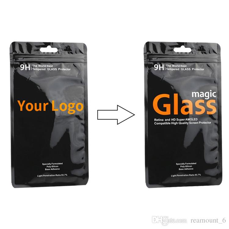 Custom PVC Packaging for Tempered Glass Retail Universal Packaging Bags for Screen Protector for iPhone X 7 Plus