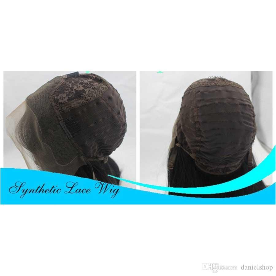 Moda pelucas de las mujeres Moda africana Largo pequeño rizado Pelucas químicas del pelo falso