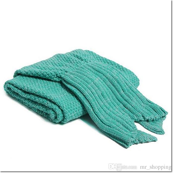 140*70cm bedding article mermaid tail blanket for child knitting wool cloth bag blanket Air conditioning blanket for sofa lunch break
