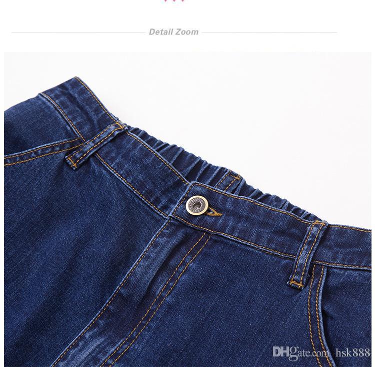 promoción mujeres bolsillo con cremallera azul lavado nueva moda mujer pantalones acampanados cintura jeans