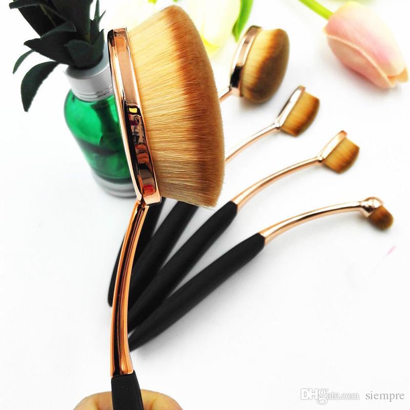 Fondation ovale brosse / set pinceaux de maquillage brosse à dents rapide application sans faille application de crème de poudre fond de boîte par DHLOval Fou