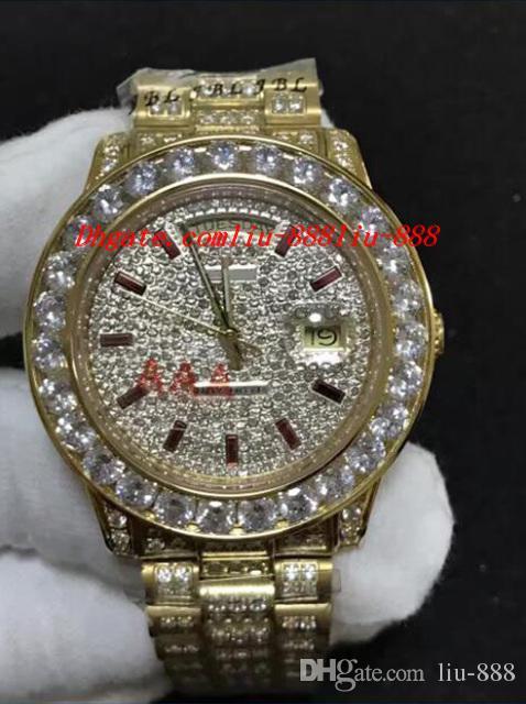 Montre bracelet homme diamant