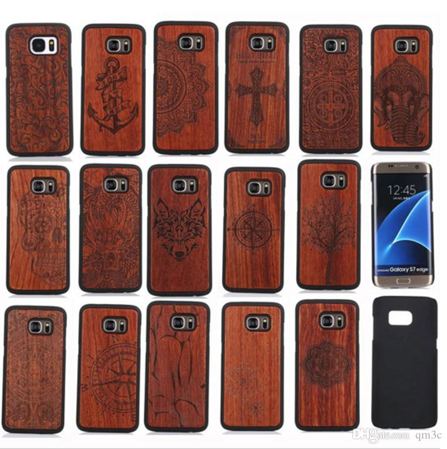 Factory Price Real Wood Phone Case For Samsung Galaxy S8 S8 Plus S7 S6 Edge S5 Hard Cover Wooden Cases For Iphone Accessories