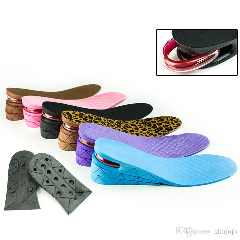 High Quality 3-Layer Insole Air Cushion Heel Insert Increase Height Lift 7 cm Soft PVC Shoe Pads For Men and Women