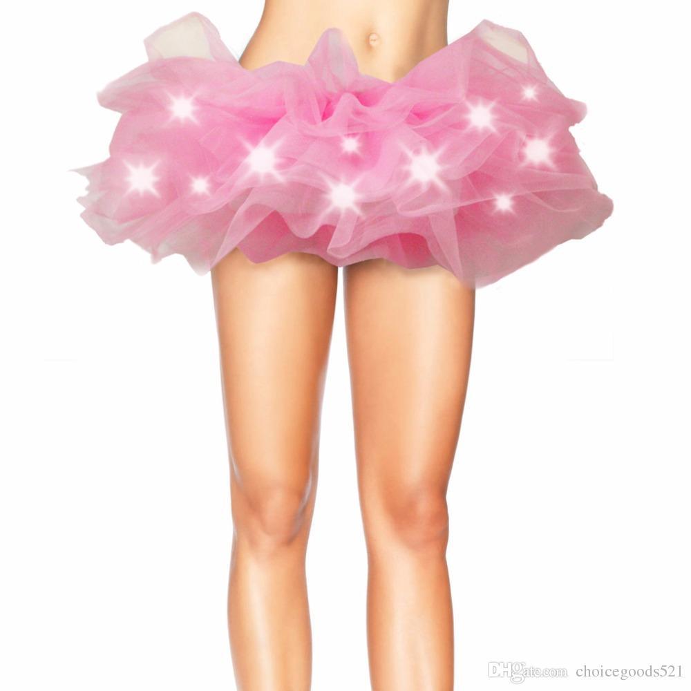 Lighting Party Gauze Dress LED Light Multicolor Mesh Legging ...