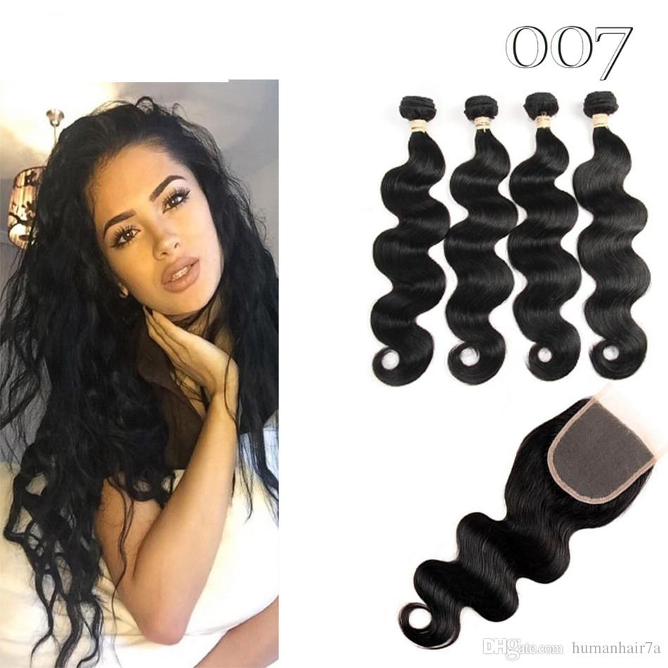 007 Hair Peruvian Body Wave With Closure Amazing Hair Unbelievable