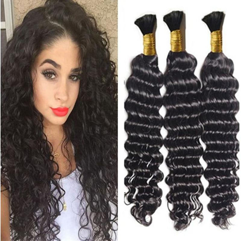 Braiding Hair Bulk Deep Wave Bulk Hair For Micro Braids On ...