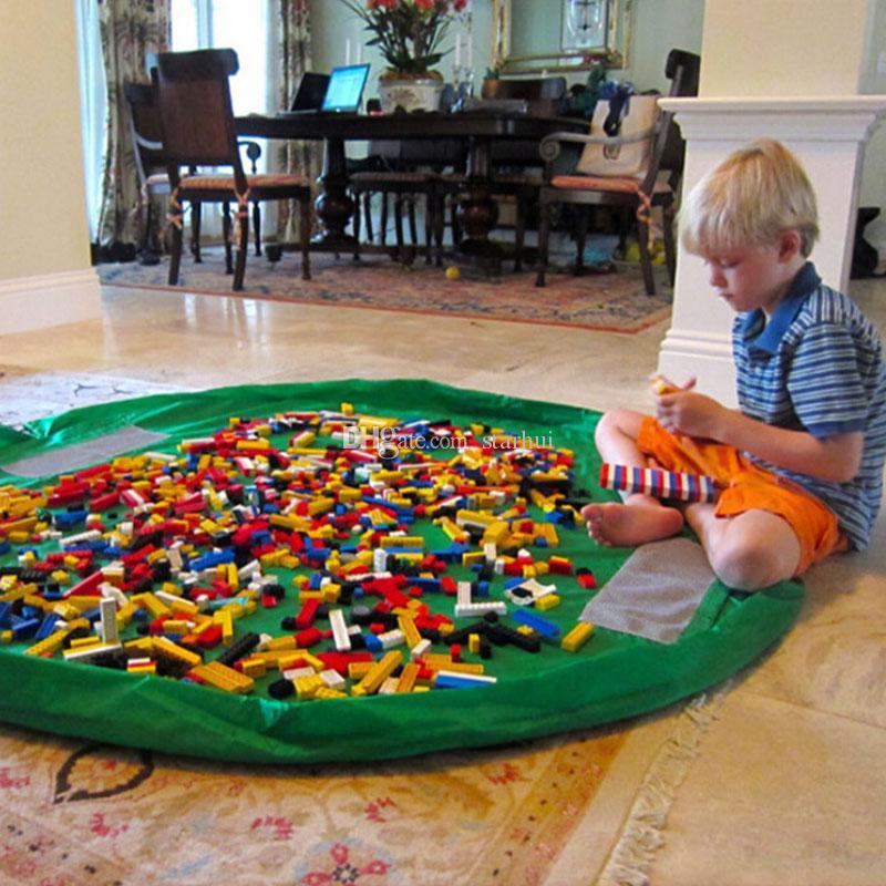 الطفل تلعب حصيرة أكياس تخزين اللعب الفاخرة المنظم لعب ماتس المحمولة اللعب بطانية سجادة صناديق المنظم هدية عيد WX-T96