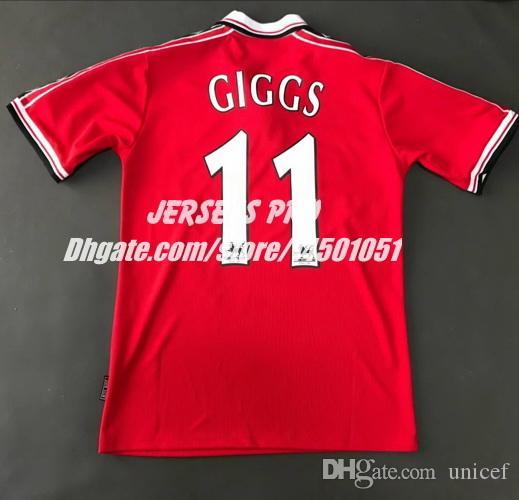 31241ffefc3 2019 Retro Soccer Jerseys Old Trafford Camiseta Ryan Giggs 1998 1999 98 99  Home Red Football Shirts Maillot De Foot Maglia Di Calcio From Unicef, ...