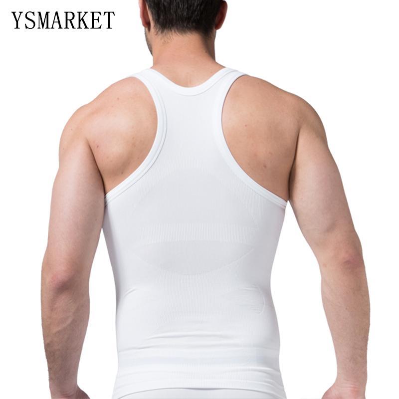 d36d1ea494 2017 Men s Slimming Body Shaper Vest Belly Fatty Underwear ...