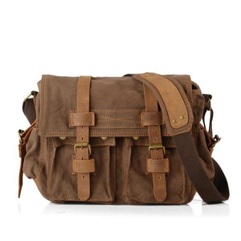 e6158002ac Men Canvas Shoulder Bag Retro Postman Bag Men Women Casual Messenger Bag  Messenger Bags For Women Leather Satchel From Roadstore
