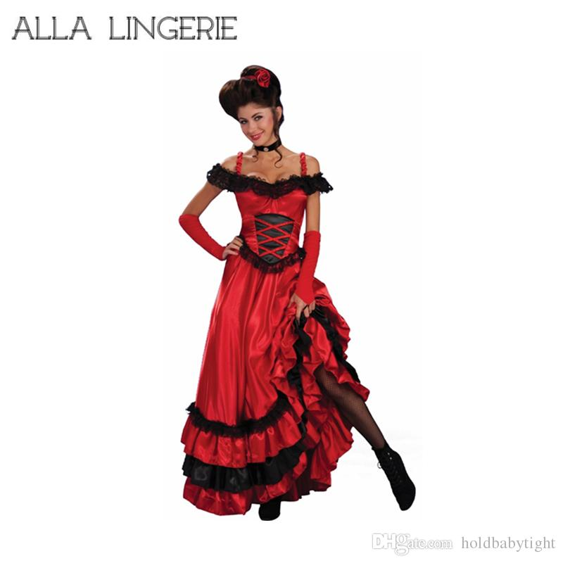 2018 Plus Size Flamenco French And Spain Dance Costume Women ...